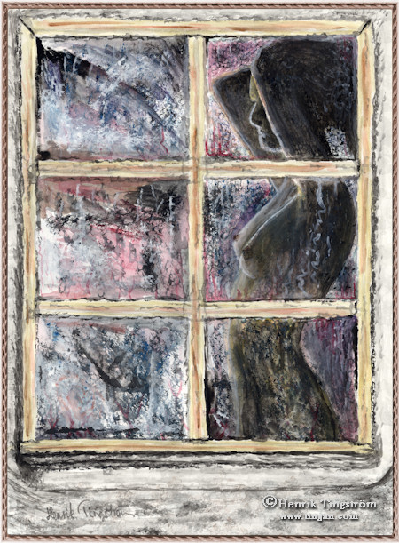 Someone in the window 3 - Watercolor painting  sc 1 st  Tinganu0027s Homepage & Tinganu0027s Homepage